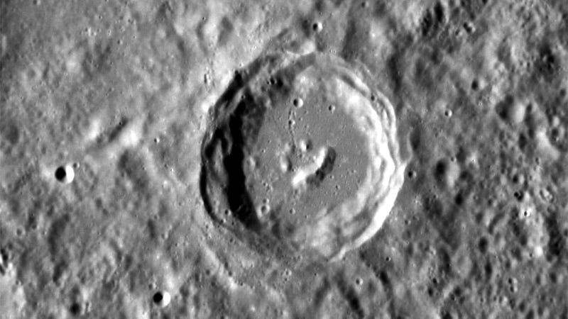 Illustration for article titled Giant Smiley Discovered In Mercury
