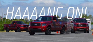 Illustration for article titled We Took A Ford F-150 Autocrossing And We Didn't Die