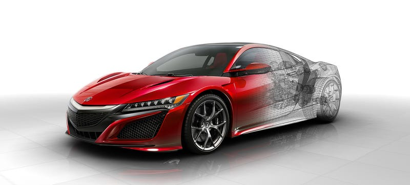 Illustration for article titled Here's How The 2016 Acura NSX Works