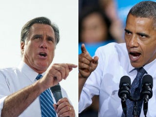 Mitt Romney (Ty Wright/Getty Images News); President Obama (Chip Somodevilla/Getty Images News)
