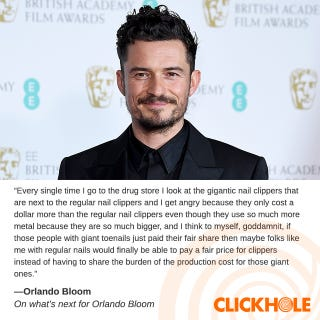 Illustration for article titled Orlando Bloom said WHAT?!