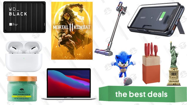Tuesday s Best Deals: AirPods Pro, Aukey Wireless Power Bank, Mortal Kombat 11, LEGO Architecture Statue of Liberty, Dyson V7 Animal, Tree Hut Sale, and More