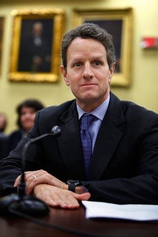 Illustration for article titled Tim Geithner Is Theoretically In Favor Of Women Running Wall Street