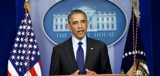 President Obama delivers remarks on capture of alleged Boston Marathon bomber (Win McNamee/Getty Images)