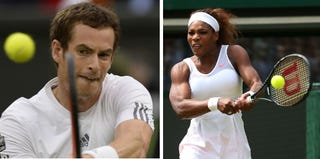 Andy Murray (Adrian Dennis/AFP/Getty Images); Serena Williams (Julian Finney/Getty Images)