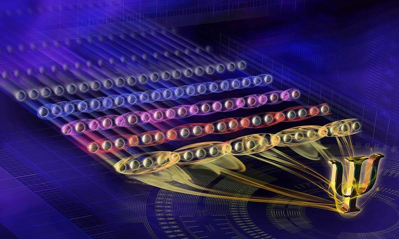Illustration for article titled Nuevo récord en computación cuántica: logran medir de forma estable 20 qubits entrelazados