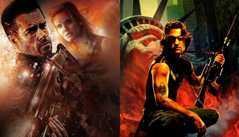 Posters for Luc Besson's Lockout and John Carpenter's Escape from New York. Image: Gamona