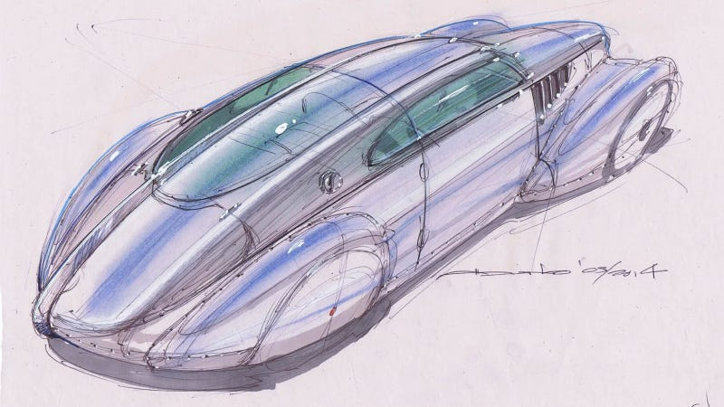 Illustration for article titled Icon Wants To Use A Tesla To Create This Gorgeous, One-Off Streamliner