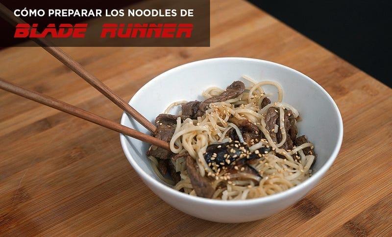 Illustration for article titled Cómo preparar los noodles con ternera y setas de Blade Runner
