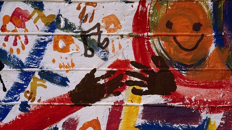 A vague mural.