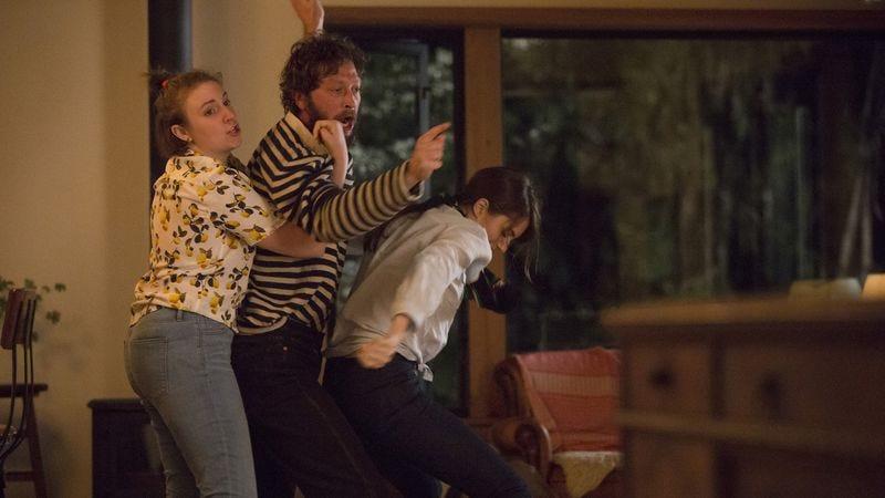 Lena Dunham, Ebon Moss-Bachrach, and Allison Williams (Photo: HBO)