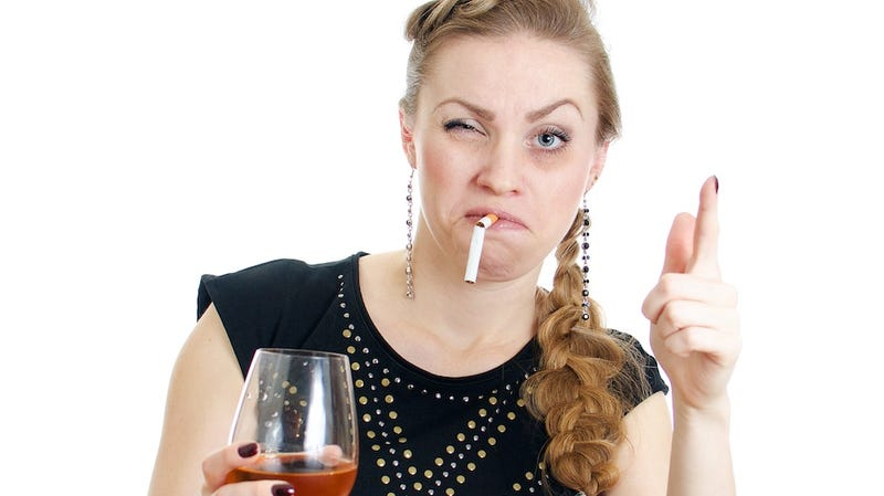 Illustration for article titled Let's Look at Unrealistic Stock Photos of Drunk Women