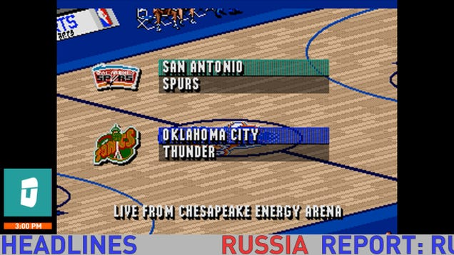 We're simulating tonight's Spurs-Thunder game in NBA Live '96 f…