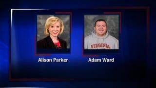 Alison Parker and Adam Ward were fatally shot by an unknown gunman Aug. 26, 2015.WDBJ7