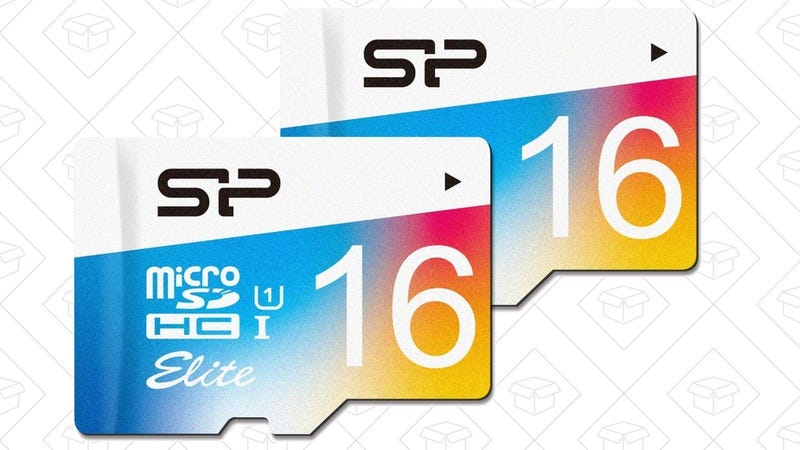 Silicon Power 2-Pack 16GB MicroSD Cards, $13