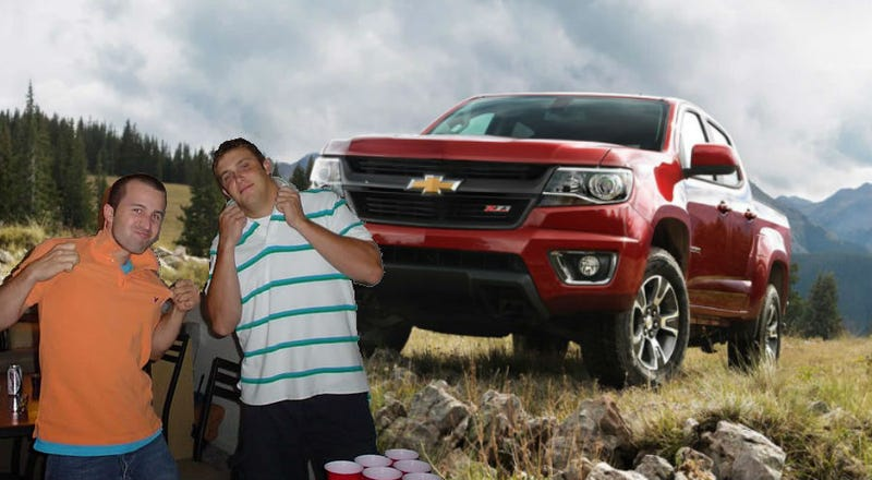 Illustration for article titled Is GM intentionally marketing the Chevy Colorado to assholes?