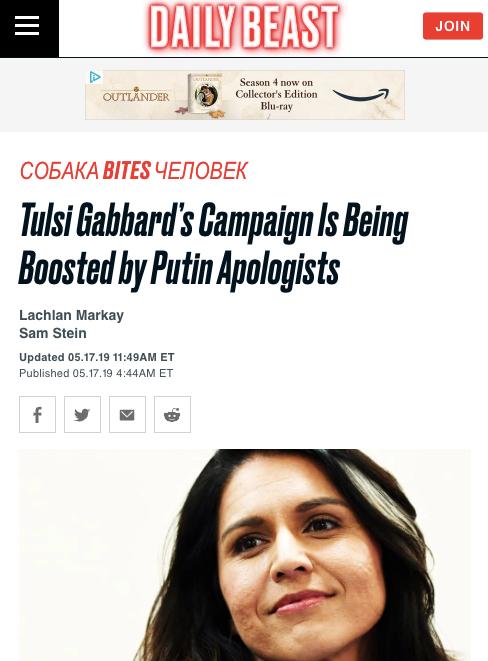 SPOILERS: Tulsi Gabbard Is Russia's Jill Stein for 2020