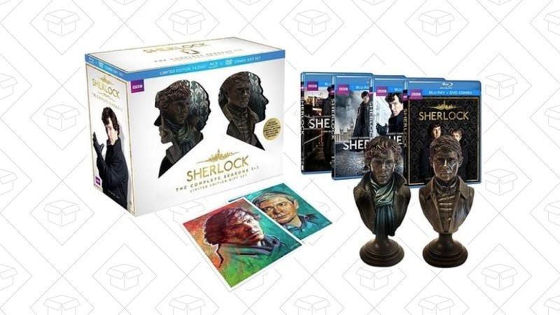 Sherlock Seasons 1-3 DVD/Blu-ray Gift Set, $55 with code KINJASHERLOCK