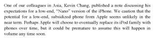 Illustration for article titled JP Morgan Retracts iPhone Nano Prediction