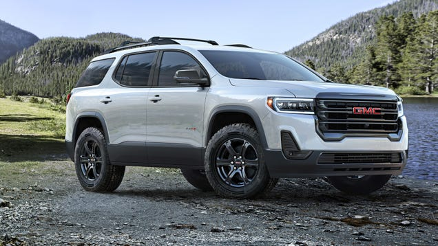 95476bdcc4a11 The 2020 GMC Acadia Gets an  Off-Road  Look and a Wacky Push-Button ...
