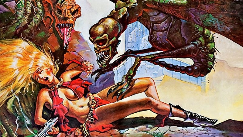 Part of the box art for Roger Corman's Galaxy of Terror, one of the films Shout! Factory acquired.
