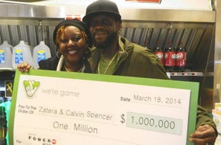 Zatera and Calvin SpencerVirginia Lottery
