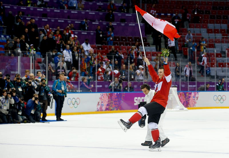Illustration for article titled Canada's Men's Hockey Team Celebrates Second Straight Gold