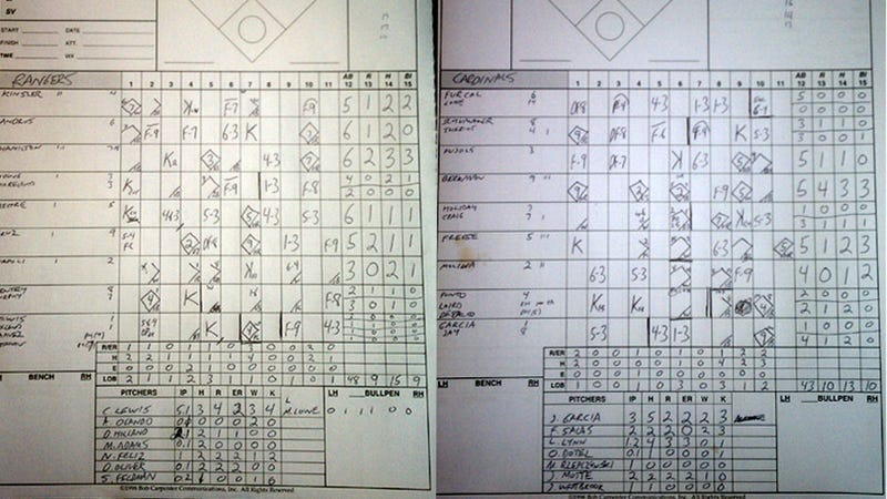 Illustration for article titled Here's Another Cool Scorecard From Game 6