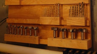 Illustration for article titled Organize All Your Drill Bits With A Stylish, Modular Wooden Rack