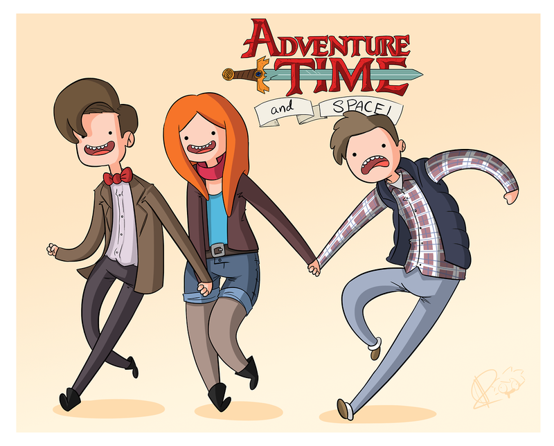 Illustration for article titled This Doctor Who/Adventure Time Mashup Is So. Damn. Charming.
