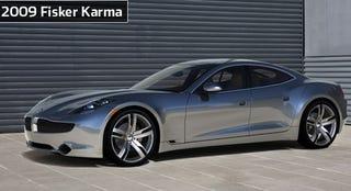 Illustration for article titled Fisker Karma Gets A Starting Price Of $87,900, We Get First Front Shot Of Tesla-Killer