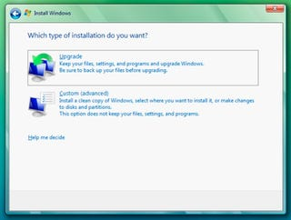 Illustration for article titled How to Install a Vista Upgrade on a Blank Hard Drive