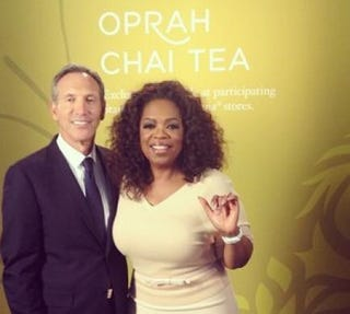 Oprah Winfrey with Howard Schultz, the chairman and chief executive of StarbucksInstagram