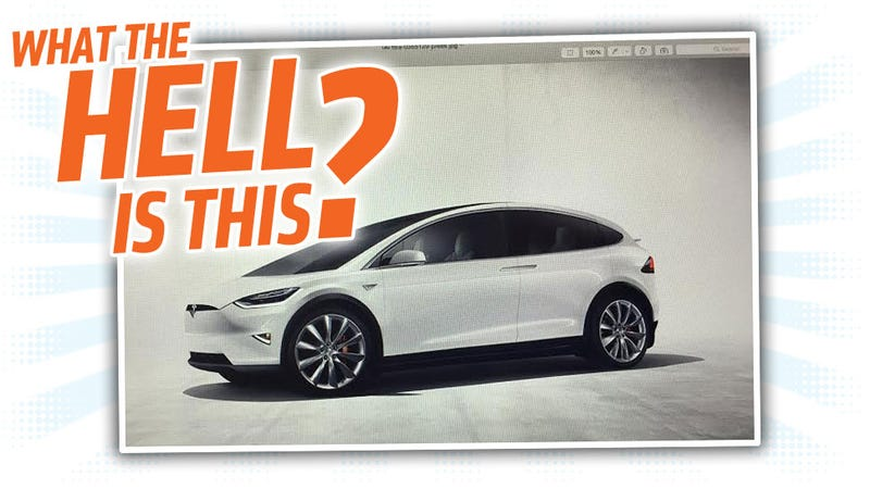 Illustration for article titled Did An Angry Tesla Employee Send Out This Weird Tesla Model 3 Mockup?