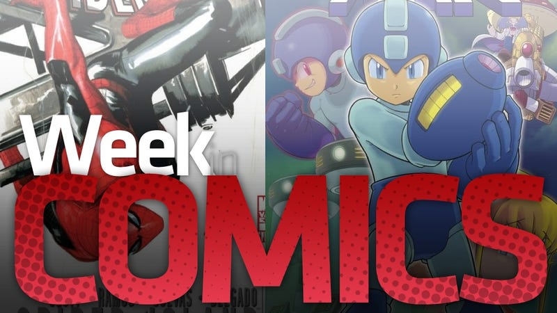 Illustration for article titled A Whole Lot of Mega Man and 8 Million new Spider-People Headline a Big Week in New Comics