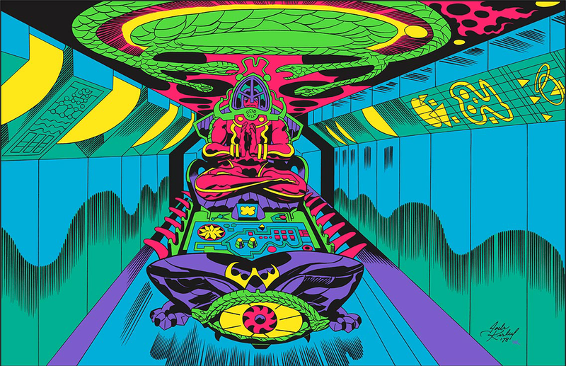 Illustration for article titled Behold The Psychedelic Glory Of Jack Kirby's Argo Art, In Color At Last