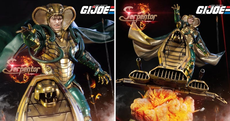 Illustration for article titled This Incredible Serpentor Statue Is the Ultimate Collectible for G.I.Joe Fans