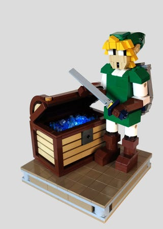 Illustration for article titled Lego Link And Treasure Chest