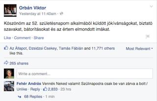 Illustration for article titled Fehér András nyerte Orbán Viktor születésnapi kommentversenyét