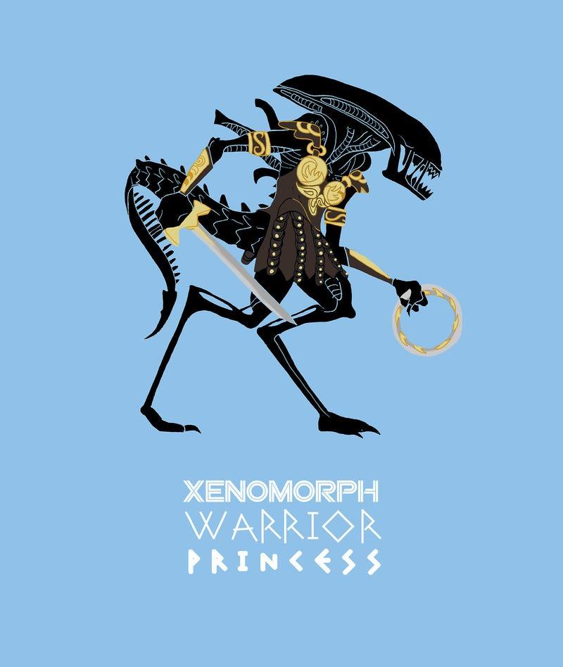Illustration for article titled Xenomorph Warrior Princess