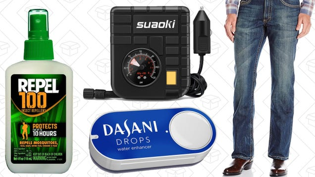 Today's Best Deals: $1 Dash Buttons, Wrangler Jeans, Your Favorite Bug Spray, and More