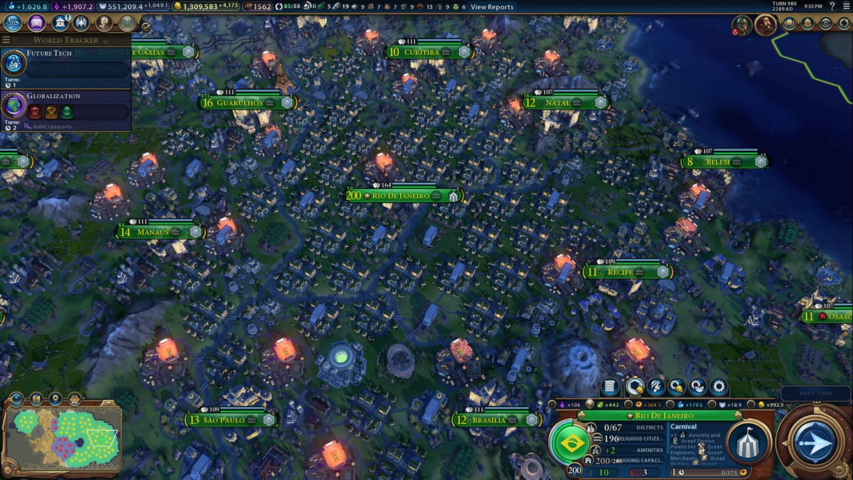 Civilization VI City Has Over Two Billion People