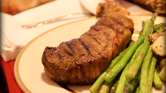 Re create a fancy steakhouse dinner at home on the cheap for Fancy at home dinners