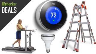 Illustration for article titled Deals: Rare Nest Thermostat Discount, Motorola Modem, Treadmill Desk