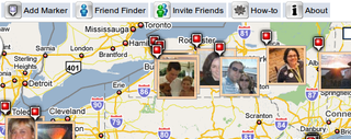 Illustration for article titled Map Motive Mashes Your Facebook Friends on a Google Map