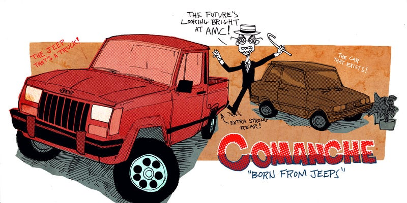 Illustration for article titled Why the Jeep Comanche Is the Best Autocross Truck Money Can Buy