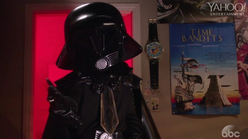 Dark Helmet drops by an episode of The Goldbergs.