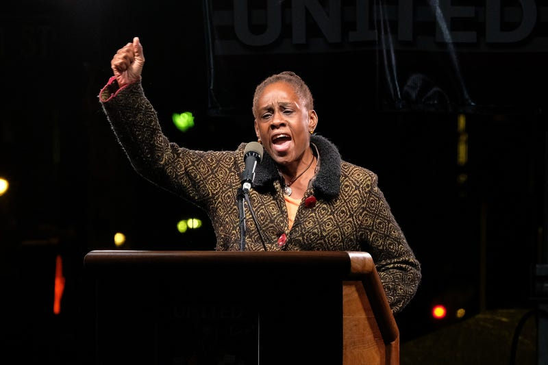 Chirlane McCray speaks onstage during the We Stand United NYC Rally outside Trump International Hotel & Tower on Jan. 19, 2017, in New York City.