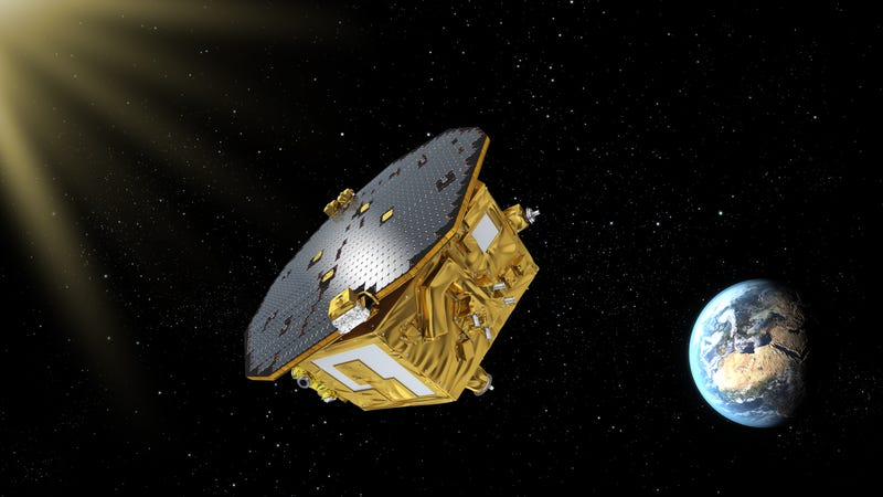 Artist rendering of LISA (Image: ESA-C Carreau)