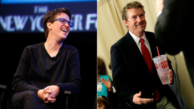 Illustration for article titled Rand Paul Wishes Dueling Were Legal So He Could Fight Rachel Maddow